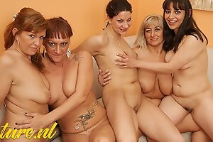 MatureNL 4 Mature ladies & 1 Teen Having a Extraordinary Lesbian Party