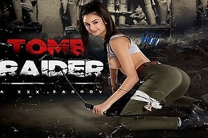 Busty Latina Eliza Ibarra As LARA CROFT Is All Yours In TOMB RAIDER A XXX VR Porn Burlesque