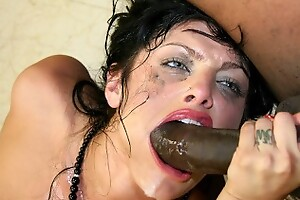 Substandard Sadie West Striptease That Black Dude To drill her Hard