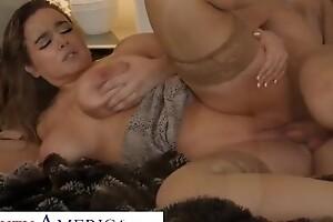 Naughty America - Alex misses Natasha Nice's massive tits bouncing uppish cock!!