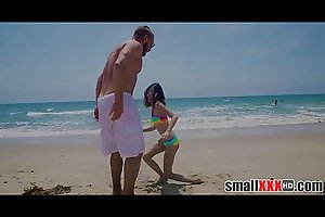 Very Cute Tiny Teen Jasmine Grey Meets Guy With Huge Cock At Beach Go Back To Hotel And Fuck