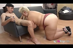 An gigantic BBW be beneficial to get under one's passing chap Filipe