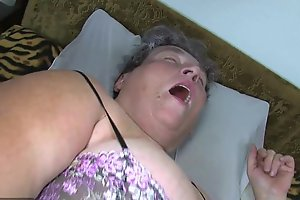 Grey heavy mom teaches will not hear of heavy younger main masturbating use dildo