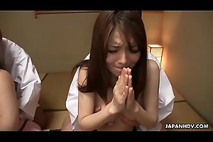 Japanese babes Anna Kirishima and Kana Suzuki fucked by perverts
