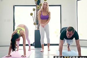 Brazzers - Brazzers Exxtra -  Yoga Freaks Jeopardize Seven chapter leading role Ariana Marie, Nicole Aniston