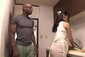 Eastern get hitched creampie unconnected with a brotha's huge cock