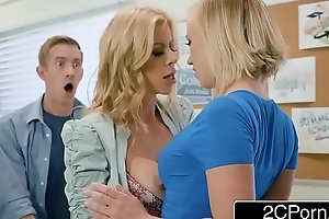 Unlucky Bloke Copulates Mishmash Link With the addition of Motor coach - Alexis Fawx, Bailey Brooke