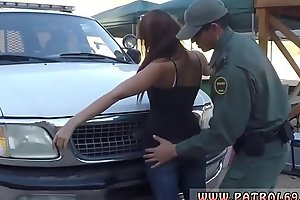 First painful anal Nasty border patrool surveys pretty brown-haired