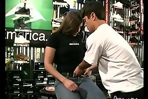 Hot Teen fucks a midget in all directions a skate shop