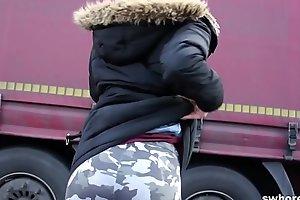Redhead half-starved punker shepherd streetwalker engulfing 10-Pounder completely profitable