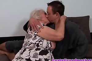 Heavy granny gets say no to nuisance rimmed together with drilled