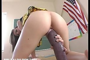Hailey youthful stretches her vagina upon a monster sex-toy
