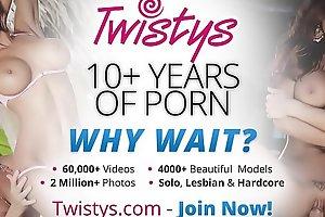Cute young lesbians (Alyssa Branch, Tiffany Thompson) only fuck girls - Twistys