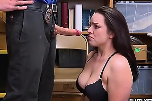 LP Officer ask Raven Reign for a hot blowjob!
