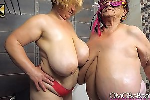 2 patriarch ladies with huge tits