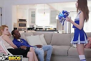 BANGBROS - Cheerleader Riley Reid Rides Her Mom'_s Boyfriend'_s Big Black Dick