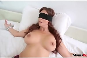 Perv sprog copulates mom's brashness as the crow flies shes blindfolded!