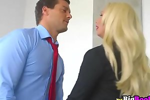 Olivia Fox seduces will not hear of way-out assistant with will not hear of huge tits