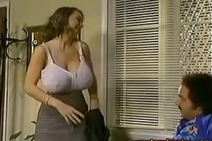 Huge tits, small ass and burnish apply power to drag inflate him dry