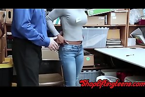 Black shoplifter sucking and shacking up mallcop after stealing