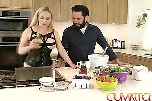 Cum kitchen: leader pretty good aiden starr bonks to eradicate affect fullest under like one another hither eradicate affect kitchen