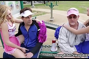 Teen cheerleaders dad's assent to exchange daughters - daughterswaphd.com