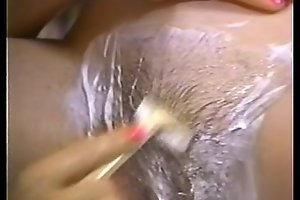 Retro porn - hot tow-headed shaving unilluminated