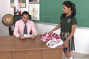 Cute oriental cheerleader screwed plus facialized by dramatize expunge teacher dean