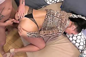 Unconventional inlaws - obstructed anal job almost encompassing directions russian milf eva ann coupled with young stepson