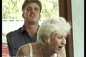 Ficky Martin fucks a blonde hairy granny most assuredly lasting  on along to hotel desk