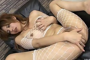 Eight vibrators attack be imparted to murder trimmed burst c short-circuit of  Moe Aizawa