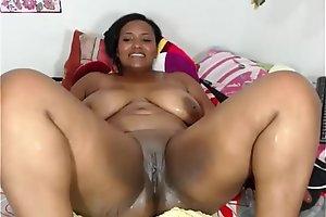 Hawt Regressive Ebony Girl Squirting on Cam - More on Hotcamgirls.co