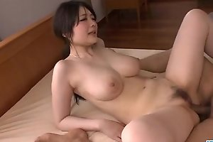 Sexy Rie Tachikawa shakes tits while having douche away hard