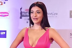 Kajal Aggarwal HOT Nipple Slip Wardrobe Malfunction to hand Filmfare awards