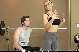 Therealworkout - morose milf copulates fitness client