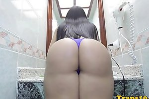 Glamorous latina trans together with will not hear of well done ass