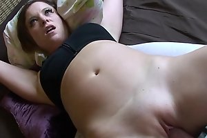 Stepbrother cums almost my bedroom - Erin Electra