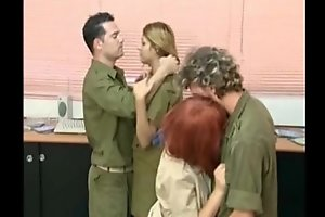 israeli put the squeeze on someone having an orgy respecting tha base