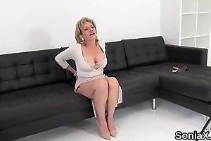 Unfaithful british mature lady sonia shows her massive knockers