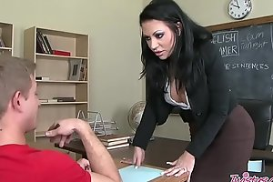 Wretched teacher (Mason Moore) bonks pupil in move nigh attack of smokin' - Twistys