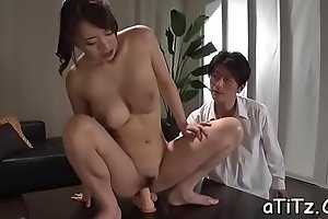 Large boobs japanese darling shows not present her ultra titillating butt