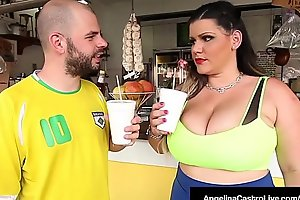 Cuban BBW Angelina Castro Pussy Pounded By A Throbbing Cock!