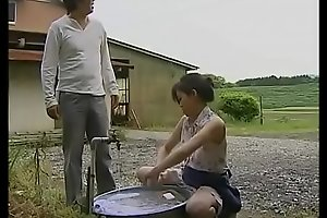 japanese mature slutwife cheats with lewd man in the warehouse