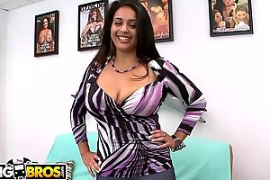 BANGBROS - Busty Latin Amateur Prada XXX Auditions Be worthwhile for Us Exceeding Facial Fest