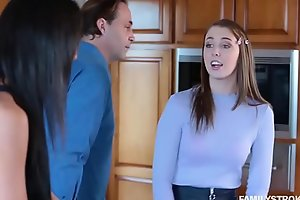 Teasing step confessor with twosome wet tights wardship Chloe Scott a blowjob!