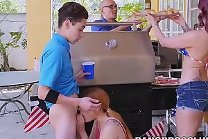 Redhead babe and MILF hammered by very lucky boyfriend