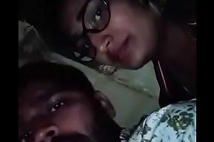 Swathi naidu with her boyfriend overhead bike