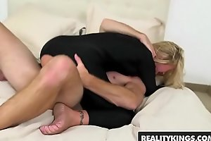 Horny blonde milf (Simone Sonay) takes some younger cock - Reality Kings