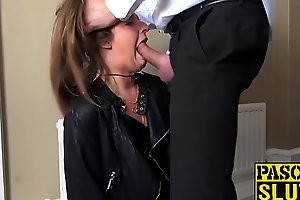 Gagged submissive babe flouted alien behind rough and deep
