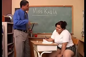 Broad in the beam tits chubby student loves to give teacher a super sexy wringing wet blowjob